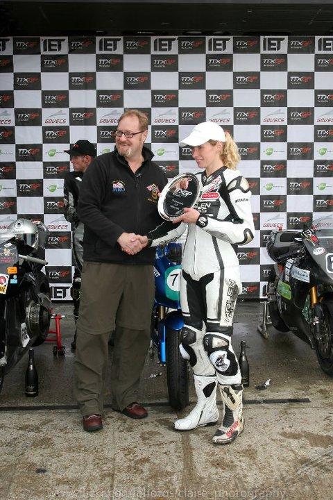 Jenny Tinmouth TTXGP Race winner image